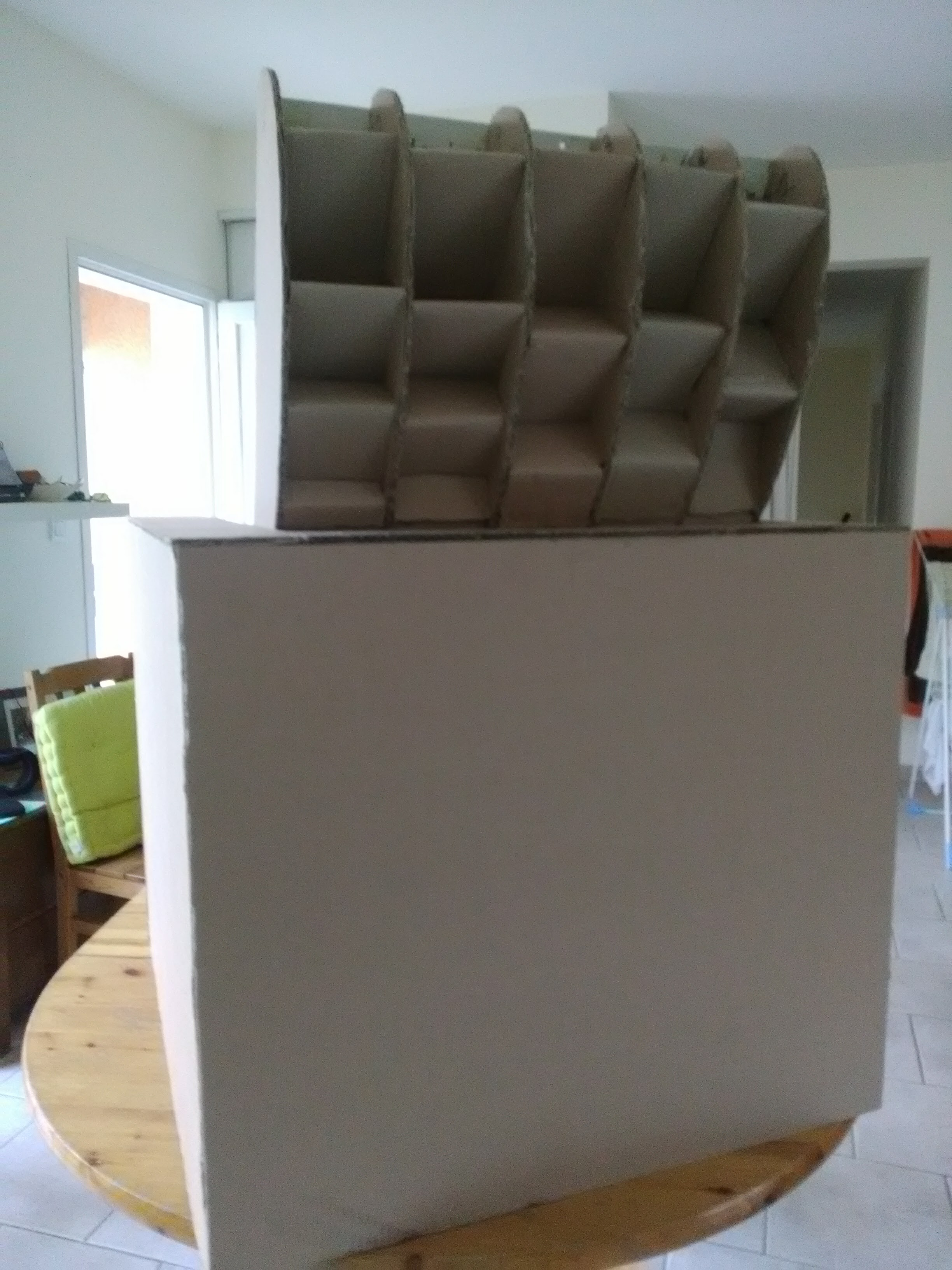 salon fabricarton objets et meubles en carton sur mesure. Black Bedroom Furniture Sets. Home Design Ideas